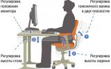 Правильное сидение за компьютером без вреда для позвоночника